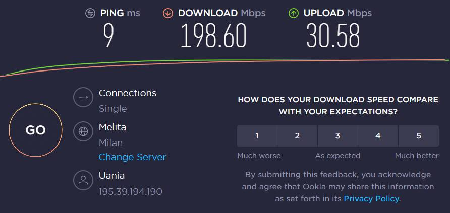 UaniaBox - Speedtest