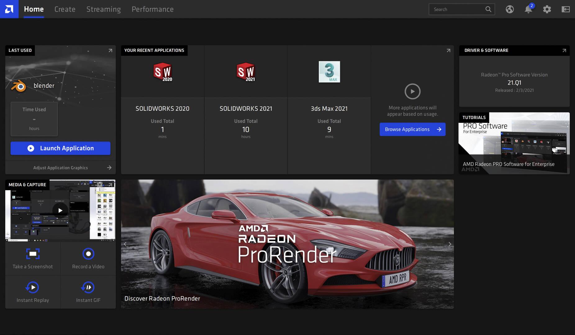 AMD Radeon Pro Enterprise Driver 2021