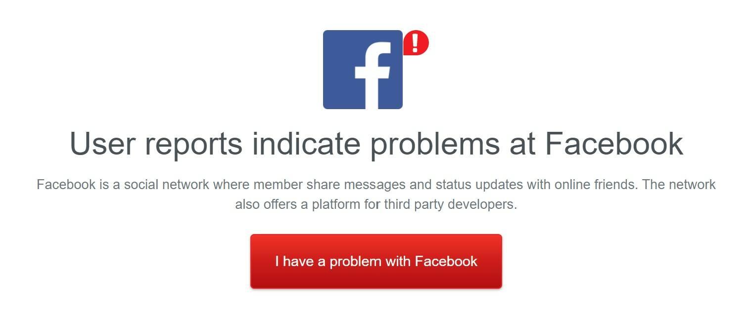 Facebook Inc. down