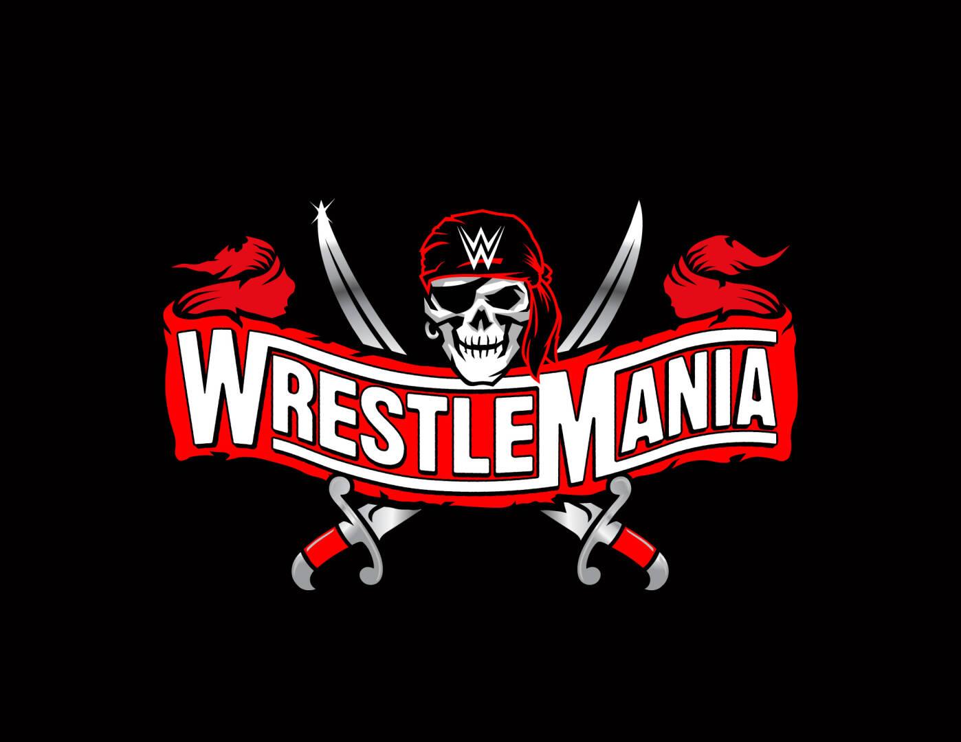Il logo ufficiale, dal design piratesco, dell'edizione di quest'anno di WrestleMania