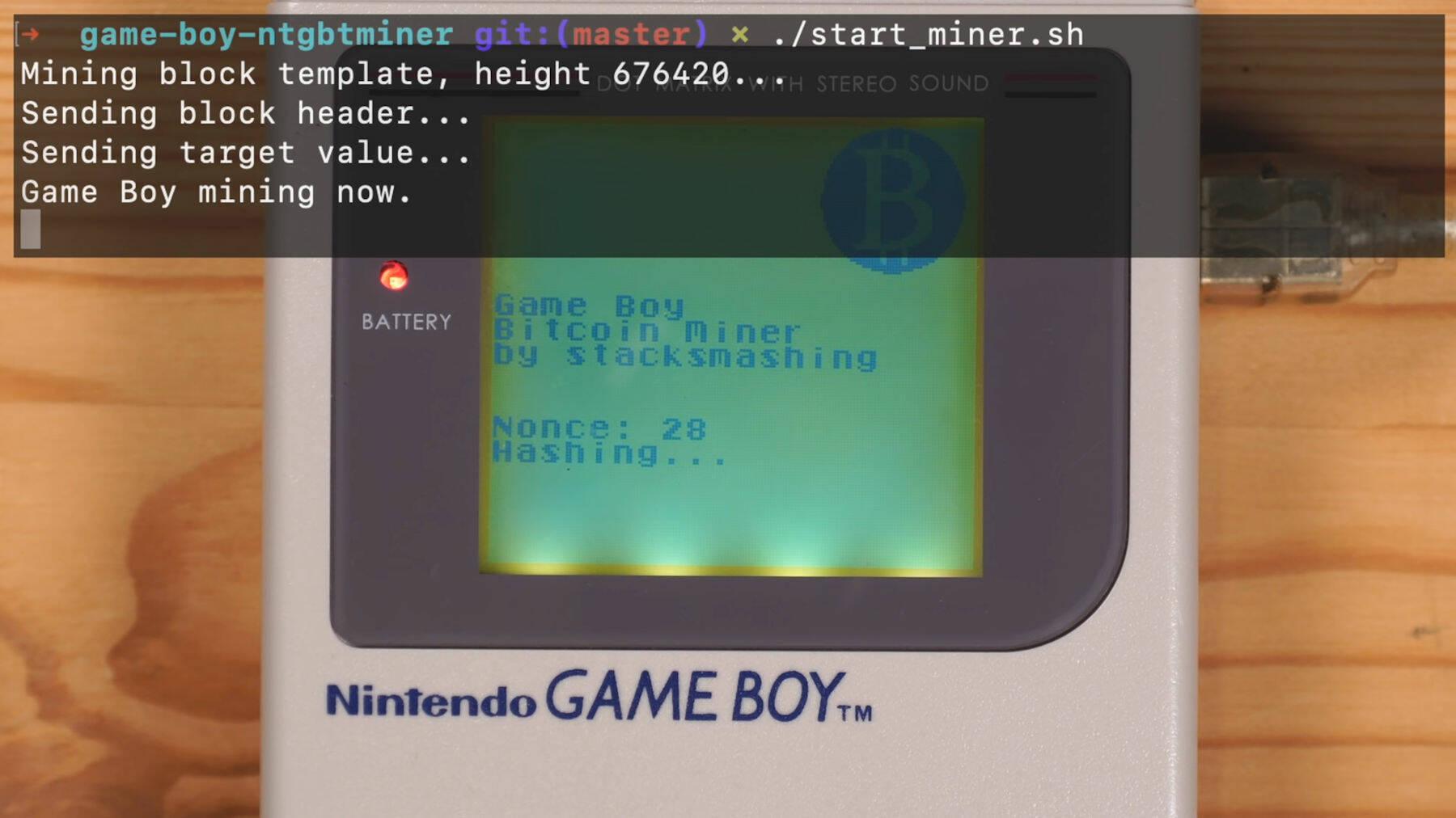 GameBoy BTC miner