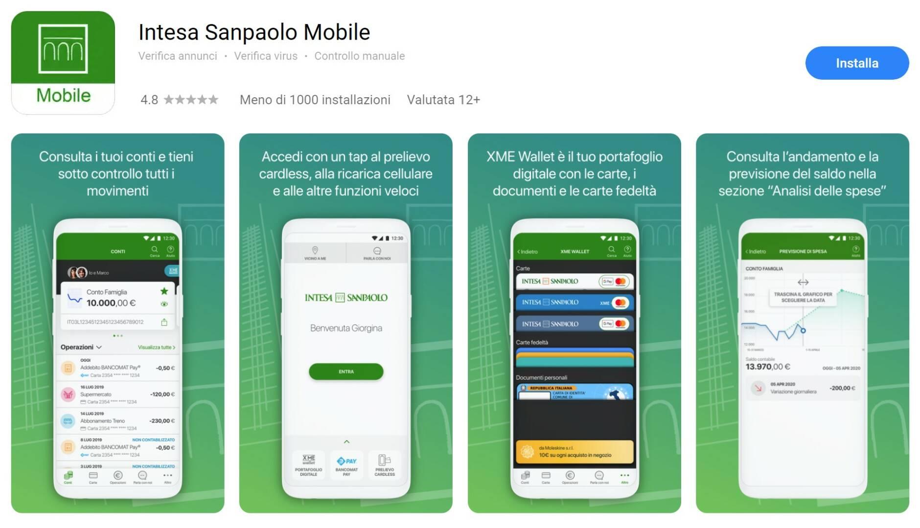 Intesa Sanpaolo Huawei AppGallery