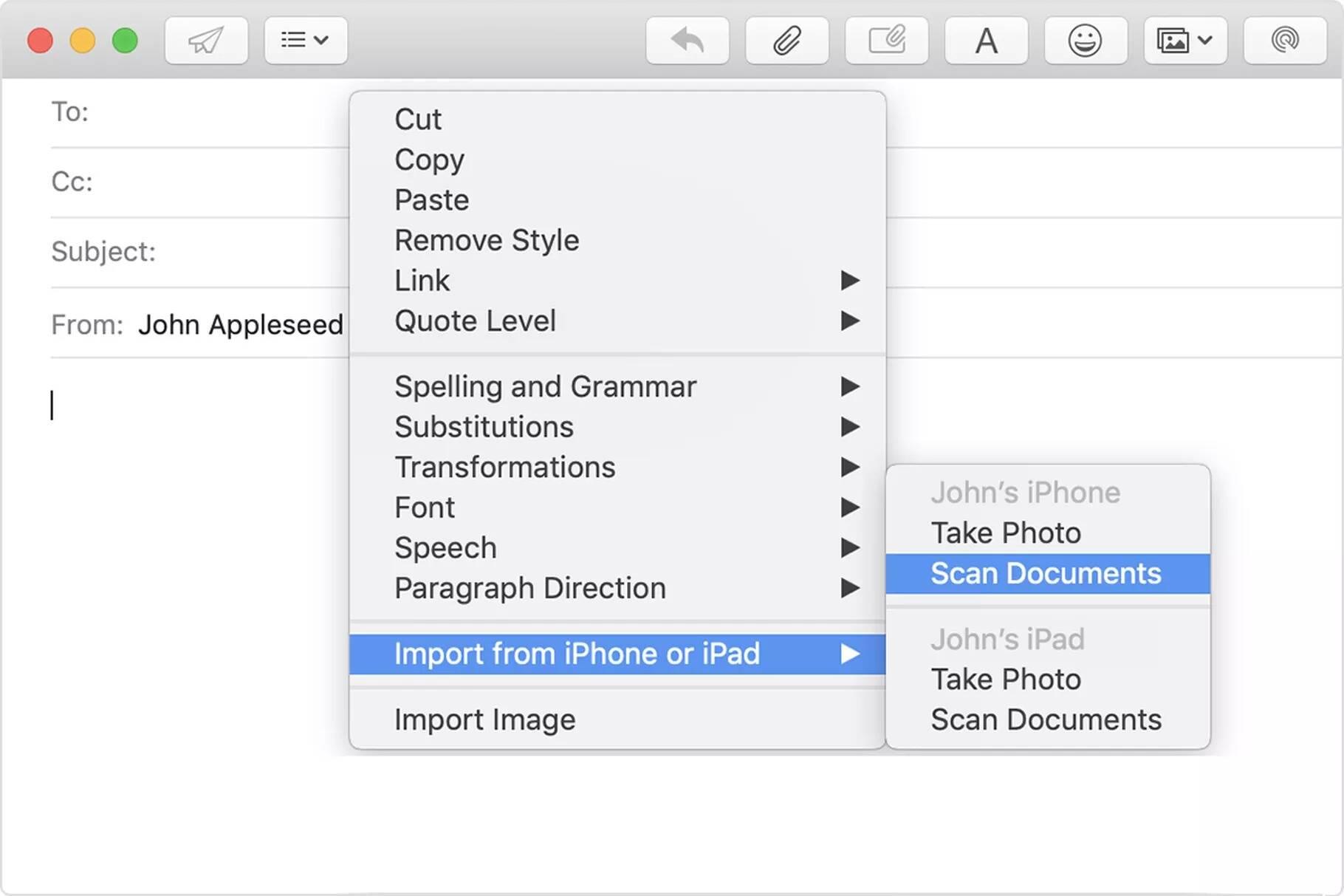 iPhone + Mac scansione documenti
