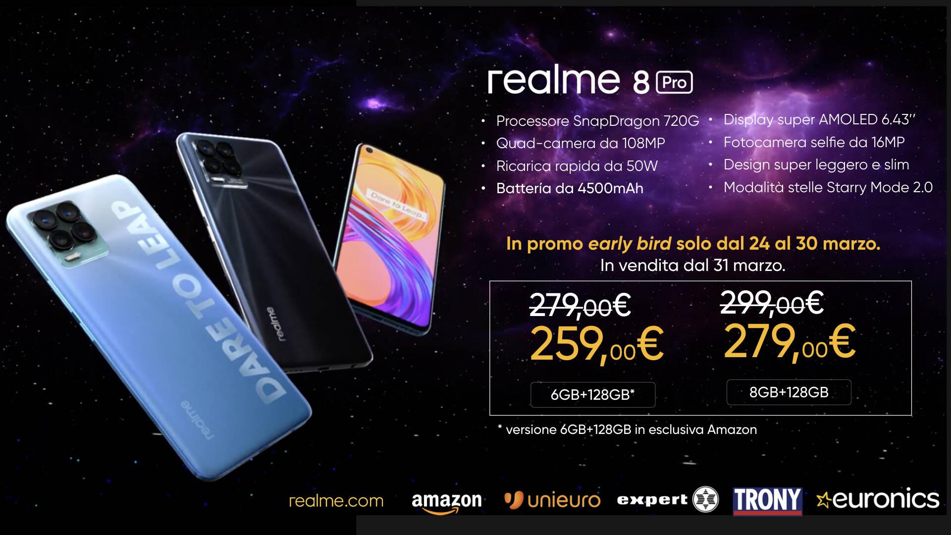 realme 8 Pro e AIoT prezzi