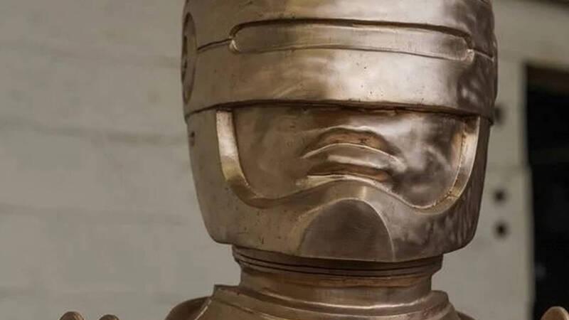 An impressive Robocop statue has been built in Detroit