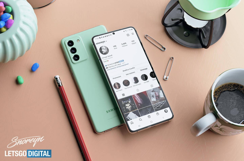 Samsung Galaxy S21 FE - LetsGoDigital render
