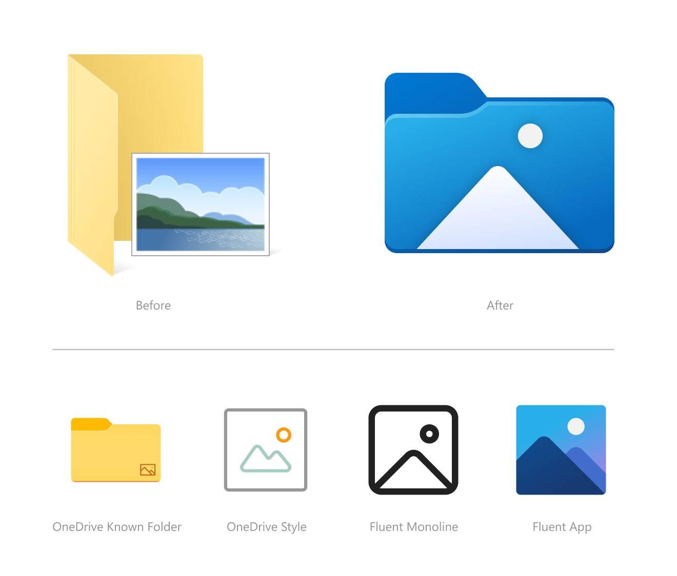Windows 10 21H2 nuove icone