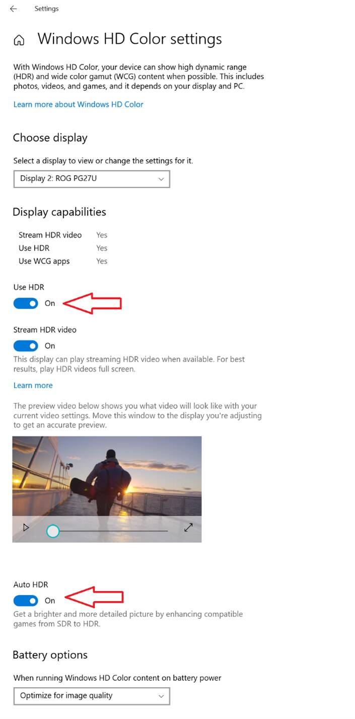Windows 10 Auto HDR