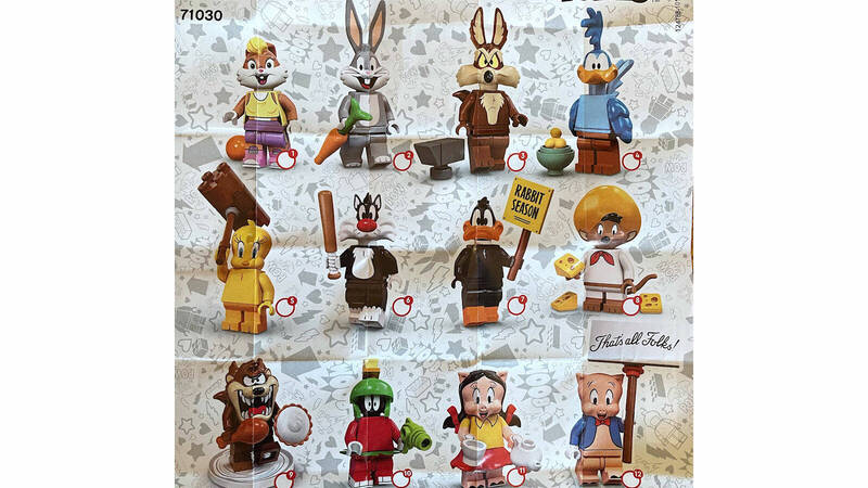 LEGO: collectible minifigures of Looney Tunes characters revealed