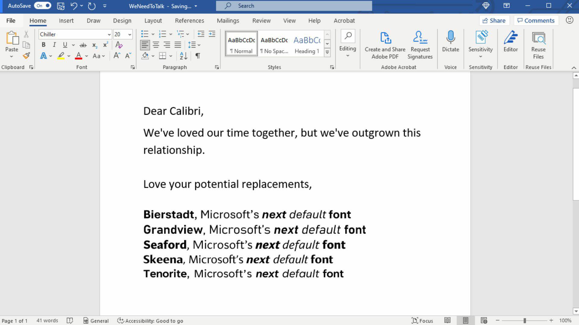 Microsoft Office Font