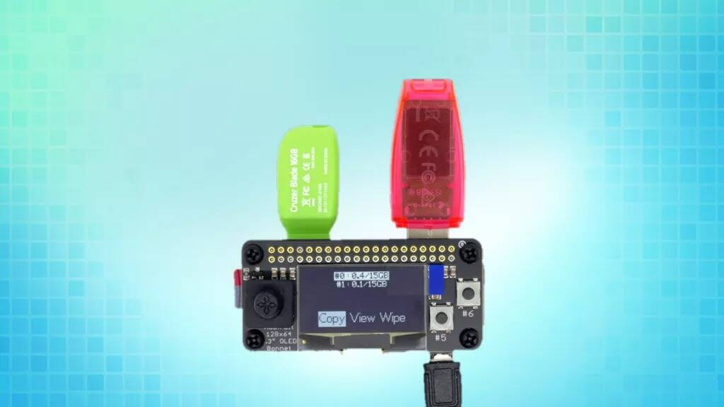 Raspberry Pi Zero USB Cloning device