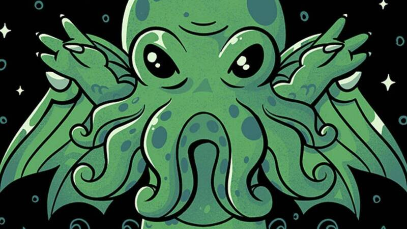 Cthulhu themed T-shirt at a discounted price for a few hours on TeeTee!