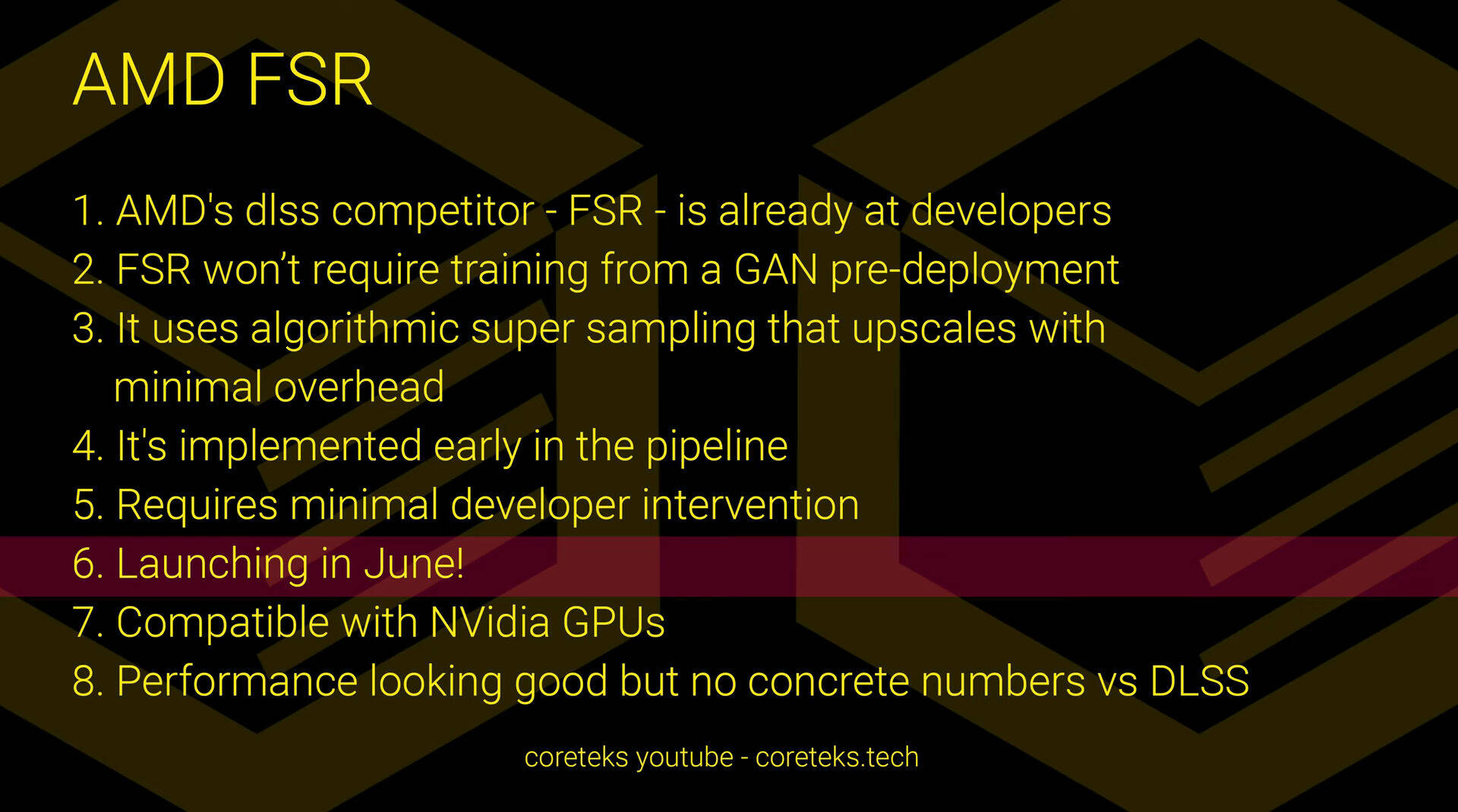 AMD FSR data di lancio
