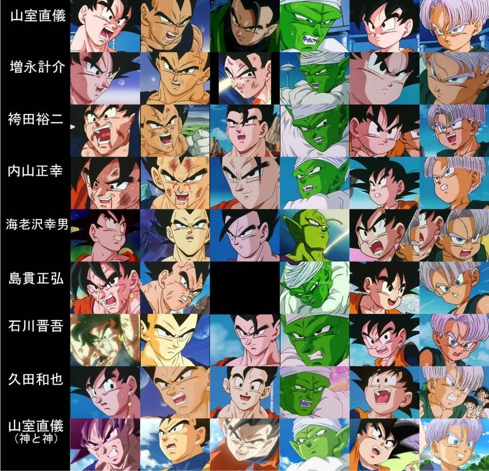 Dragon Ball Z animatori diversi