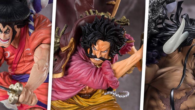 One Piece: Kozuki Oden, Gol D Roger and Kaido Figuarts Zero in pre-order