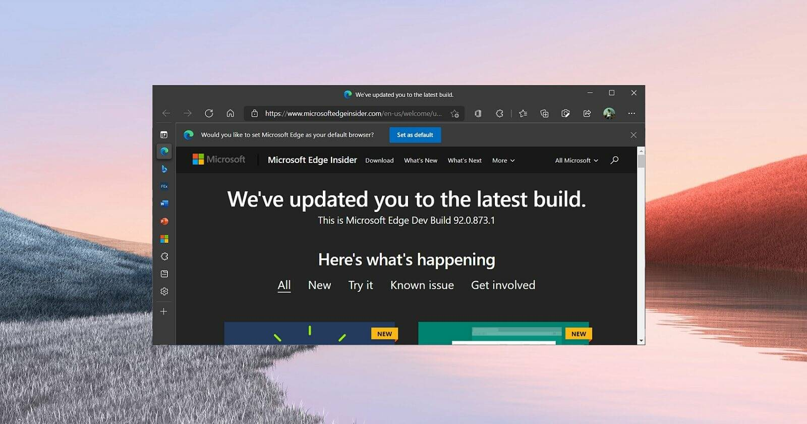 Microsoft Edge 92 Office Viewer