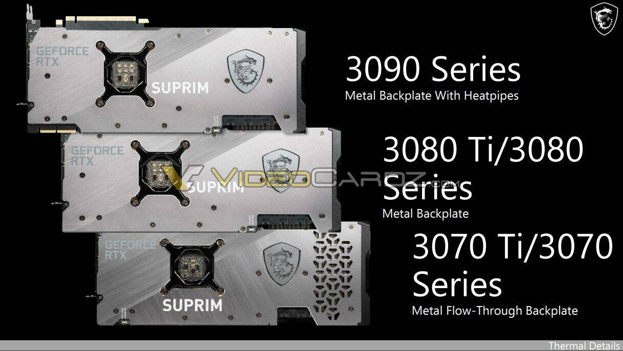 MSI SUPRIM GeForce RTX 3080 3070 Ti