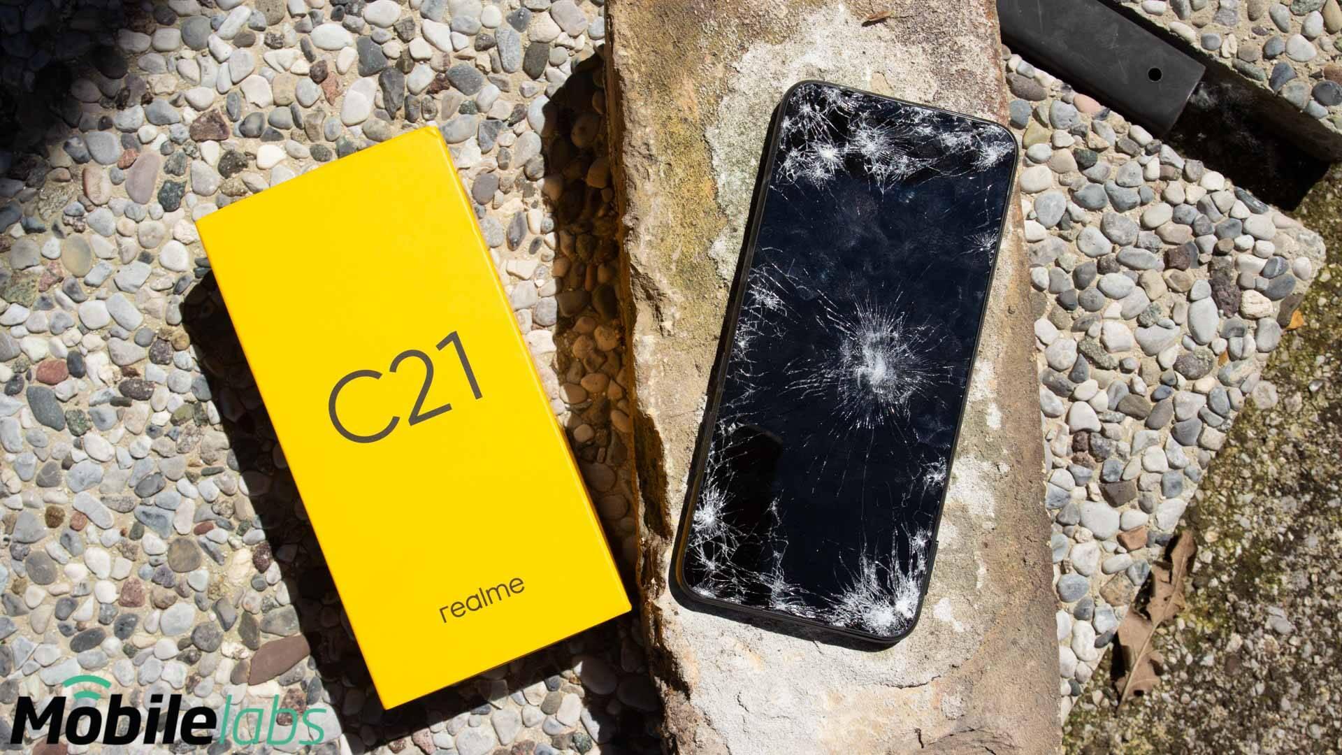 realme - C21 drop test