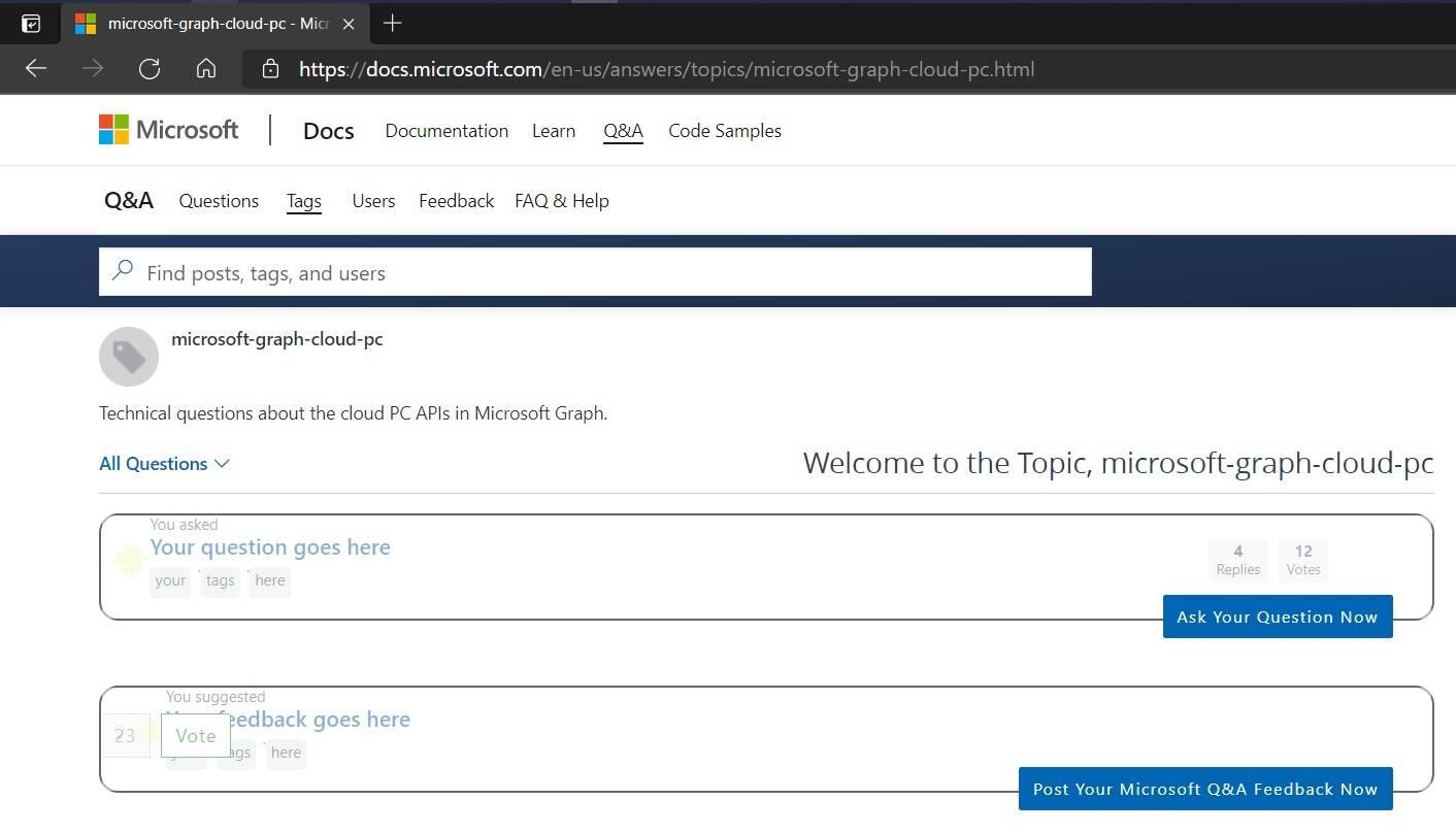 Windows Cloud PC supporto