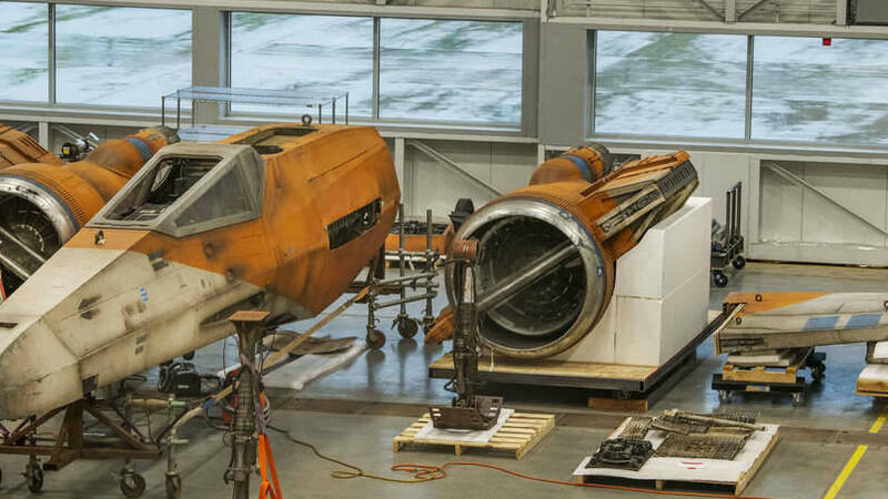 A full-size X-Wing lands at the Smithsonian