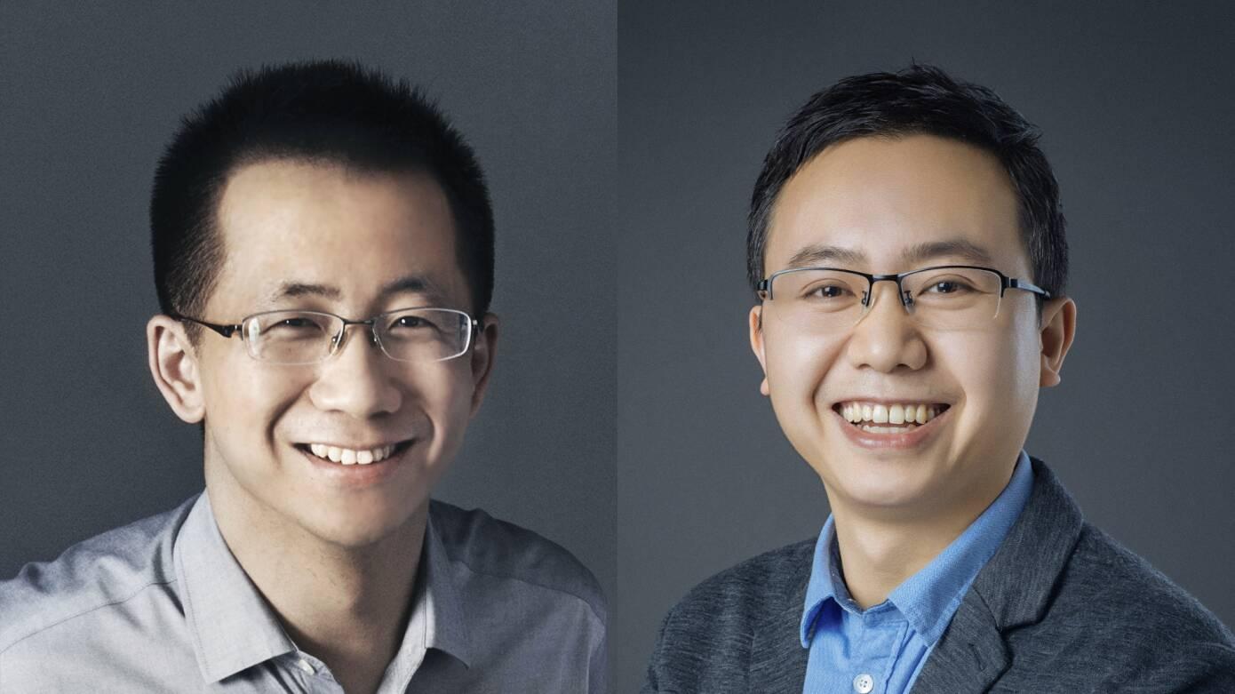 Zhang Yiming e Liang Rubo (ByteDance)