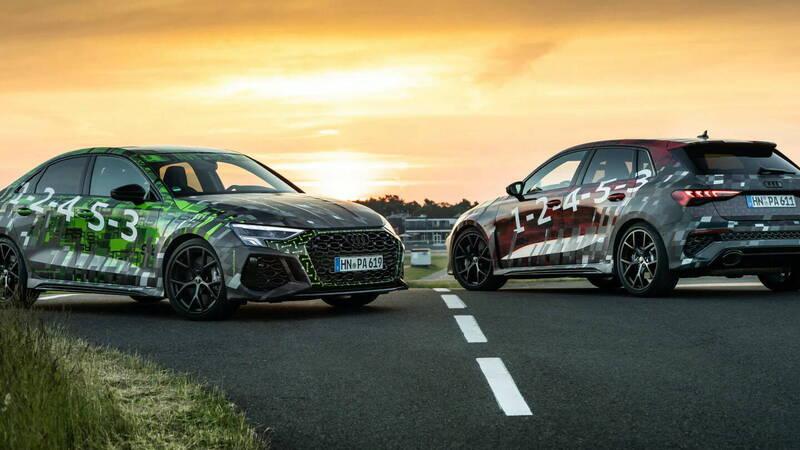 New Audi RS3: torque splitter and drift mode