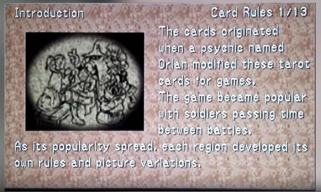 Final Fantasy VIII Triple Triad Orlan