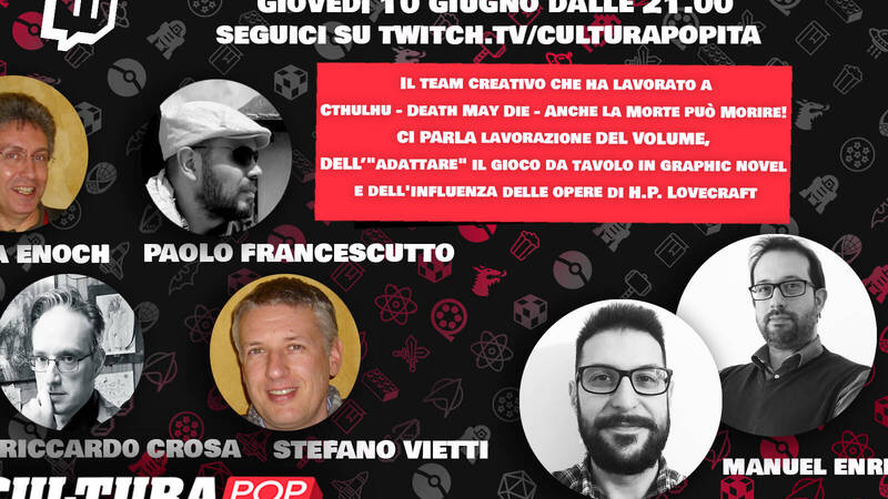POP Culture presents: the comic and its authors - Luca Enoch, Stefano Vietti, Riccardo Crosa and Paolo Francescutto