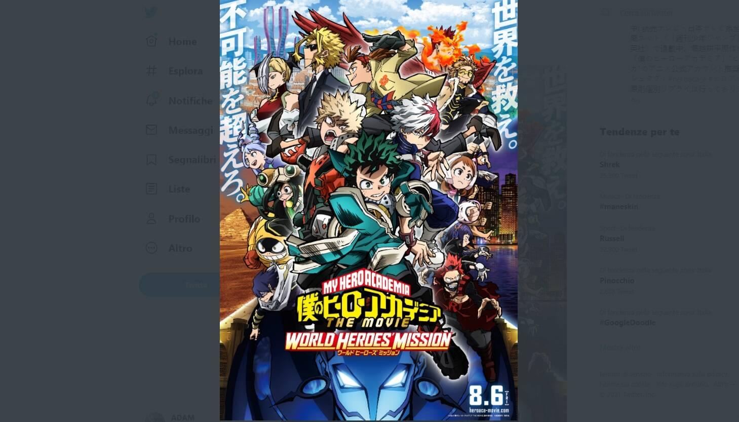 My Hero Academia: World Heroes' Mission - Kohei Horikoshi disegnerà il capitolo del manga