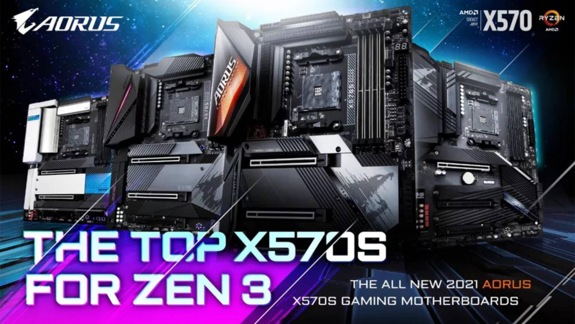 Gigabyte schede madri AMD X570S