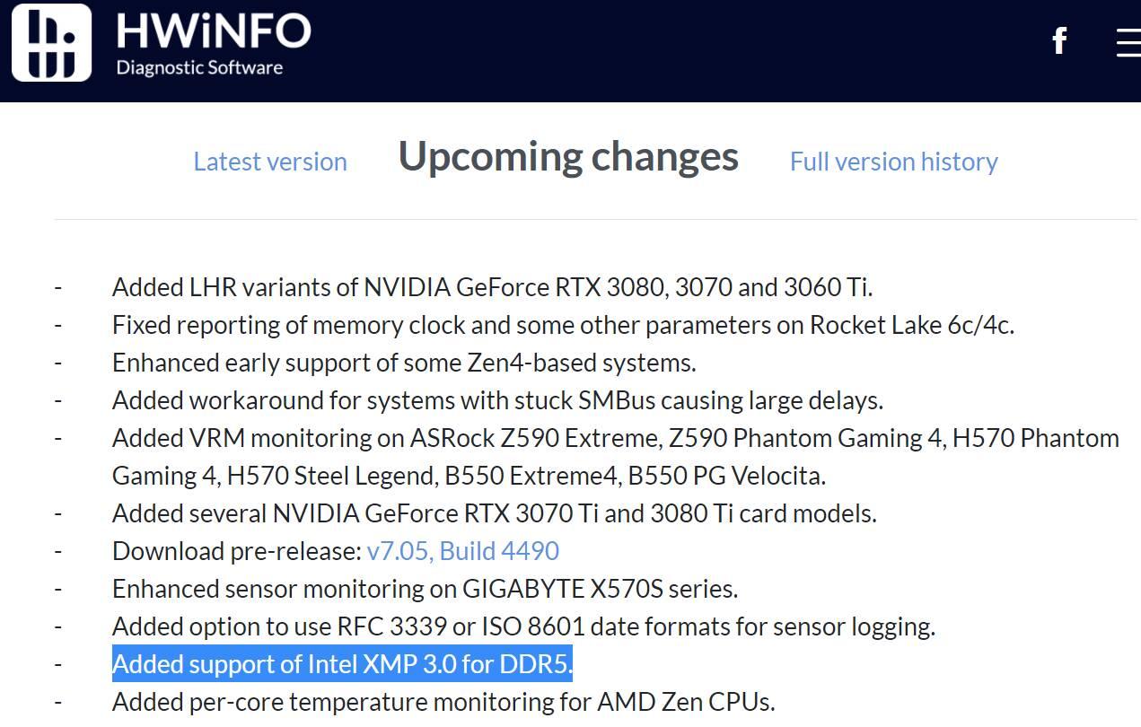 Intel DDR5 XMP 3.0