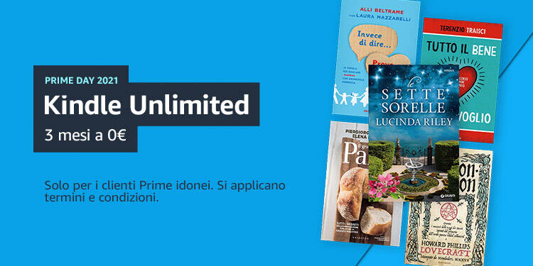 Kindle Unlimited 3 mesi Prime Day