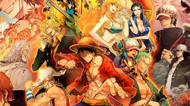 One Piece: the new illustration for the crossover with Where's Wally?