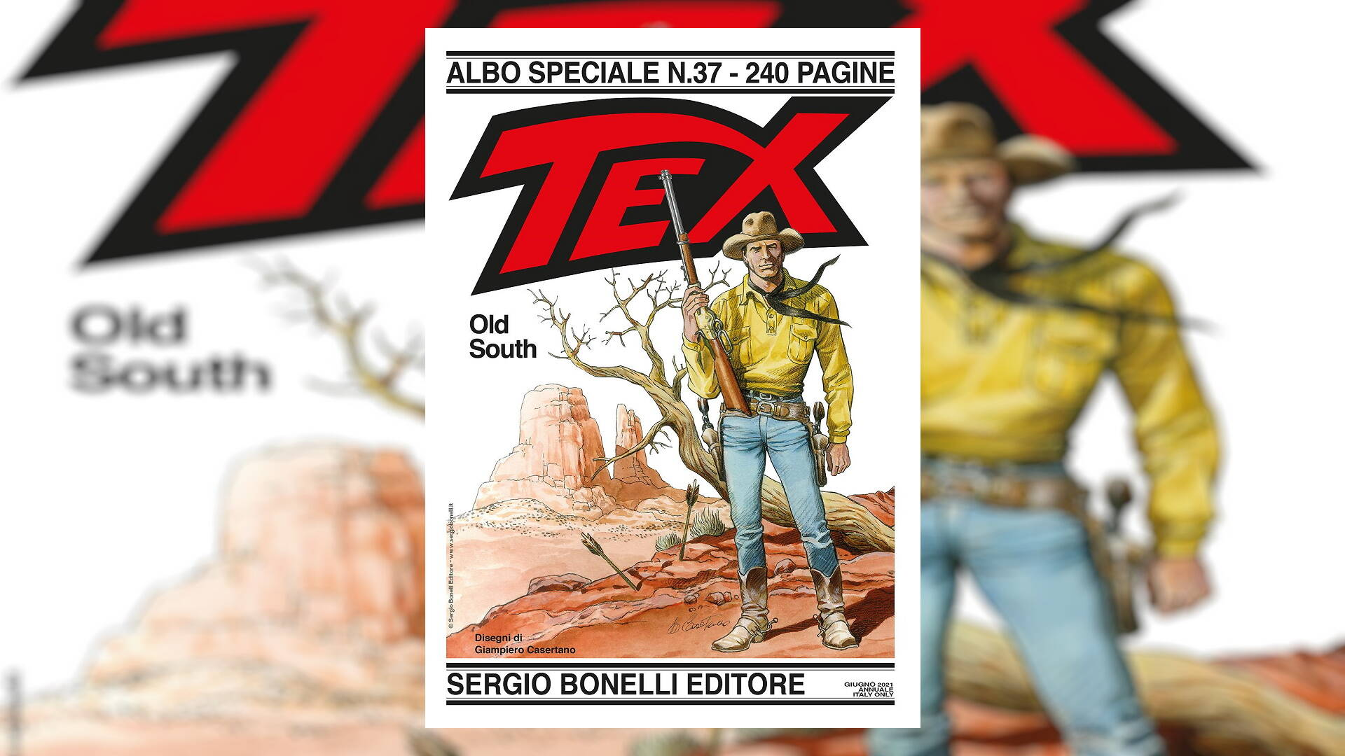 Tex - Old South, il Texone di Giampiero Casertano: la recensione