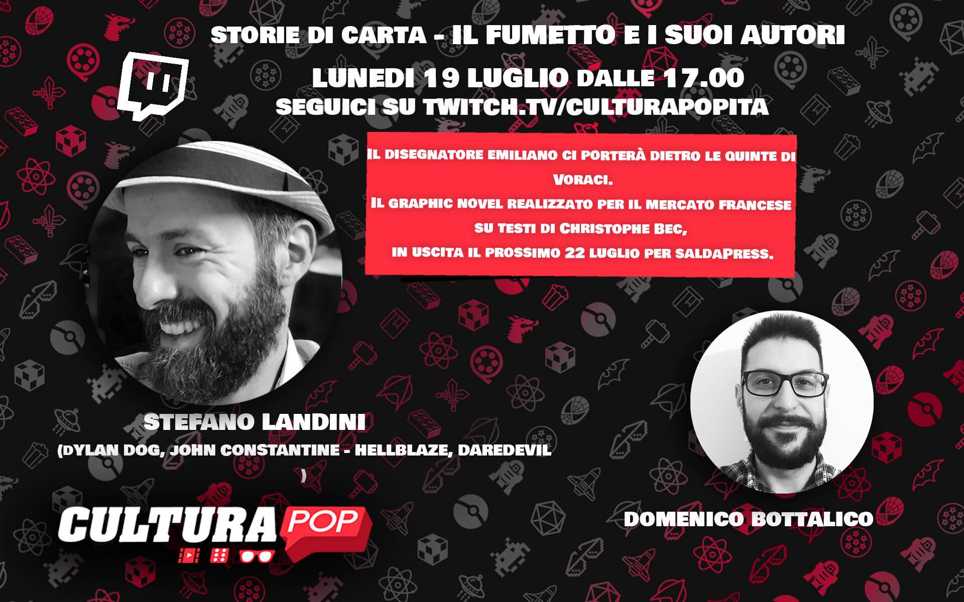 CulturaPOP presenta: il fumetto e i suoi autori, Stefano Landini