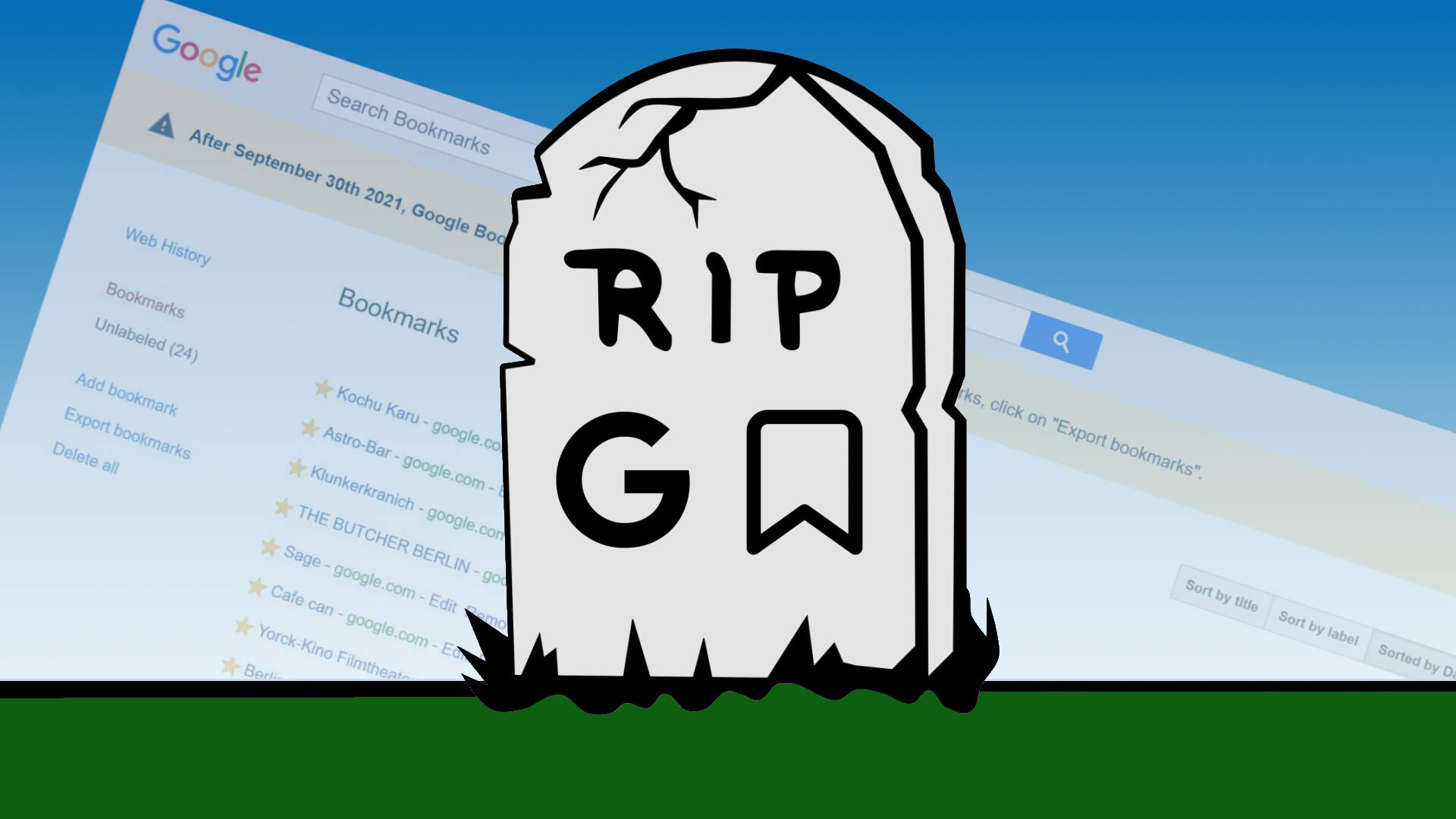 Google Bookmarks RIP