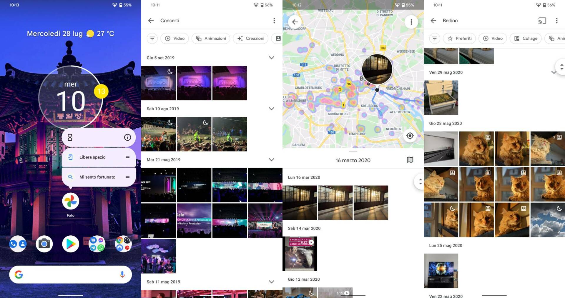 Google Foto - Mi sento fortunato