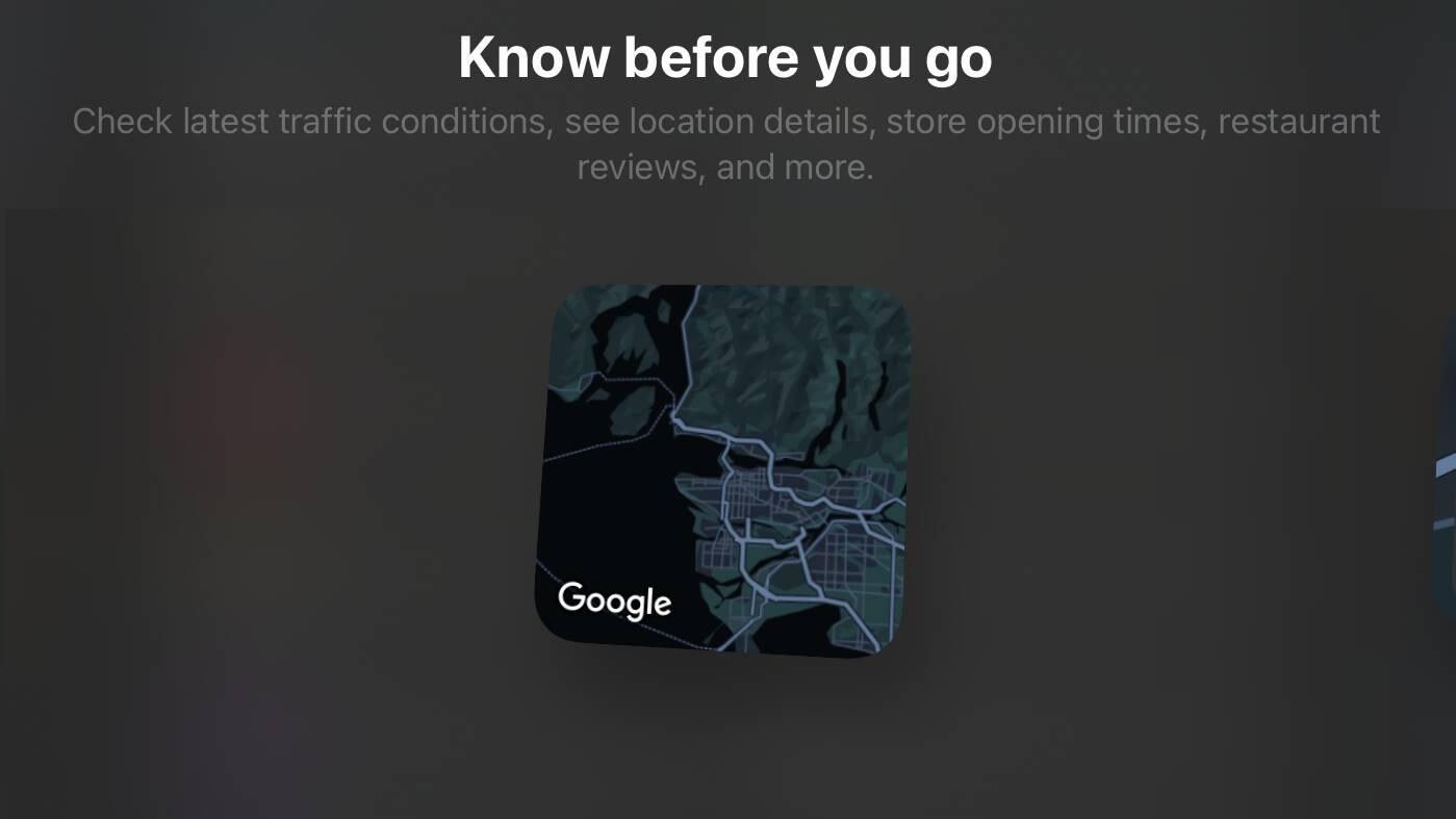 Google Maps iOS iPadOS widget