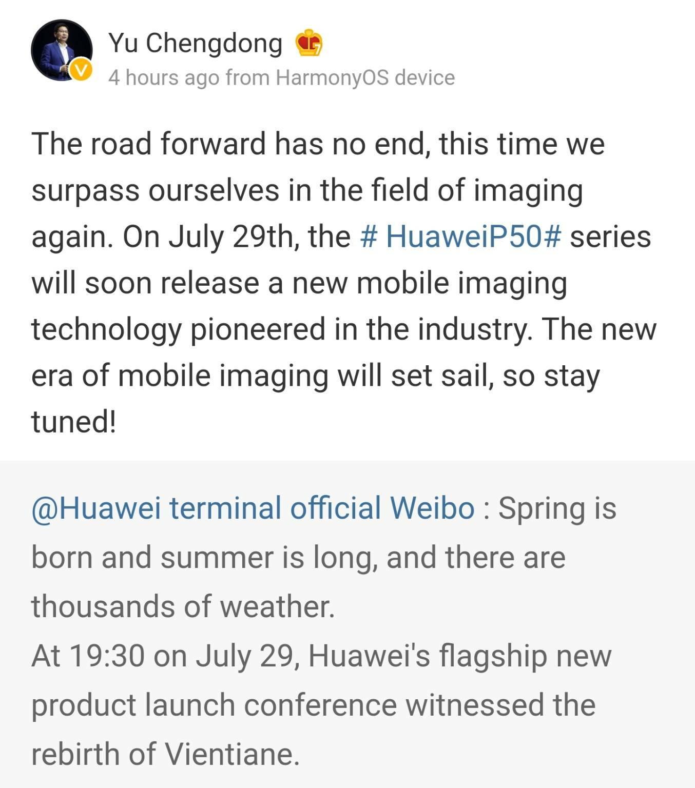 huawei p50 lancio ufficiale