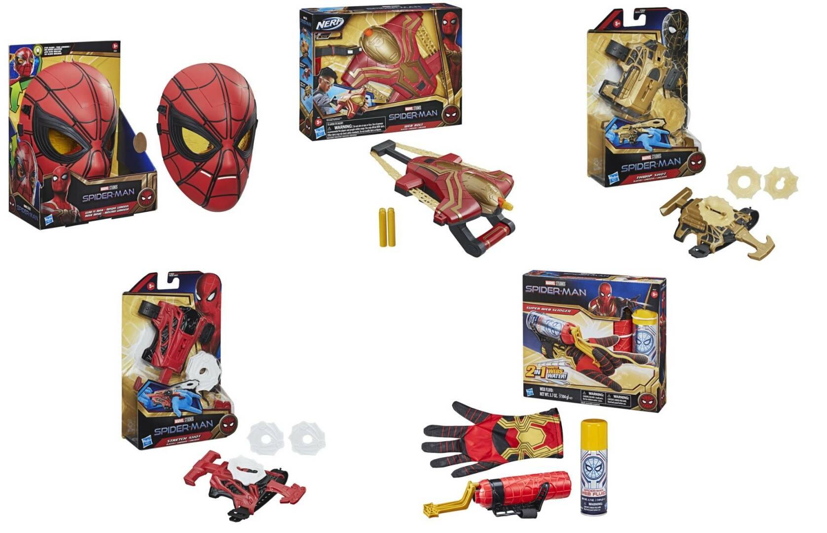 I nuovi costumi di Spider-man da Spider-man: No Way Home