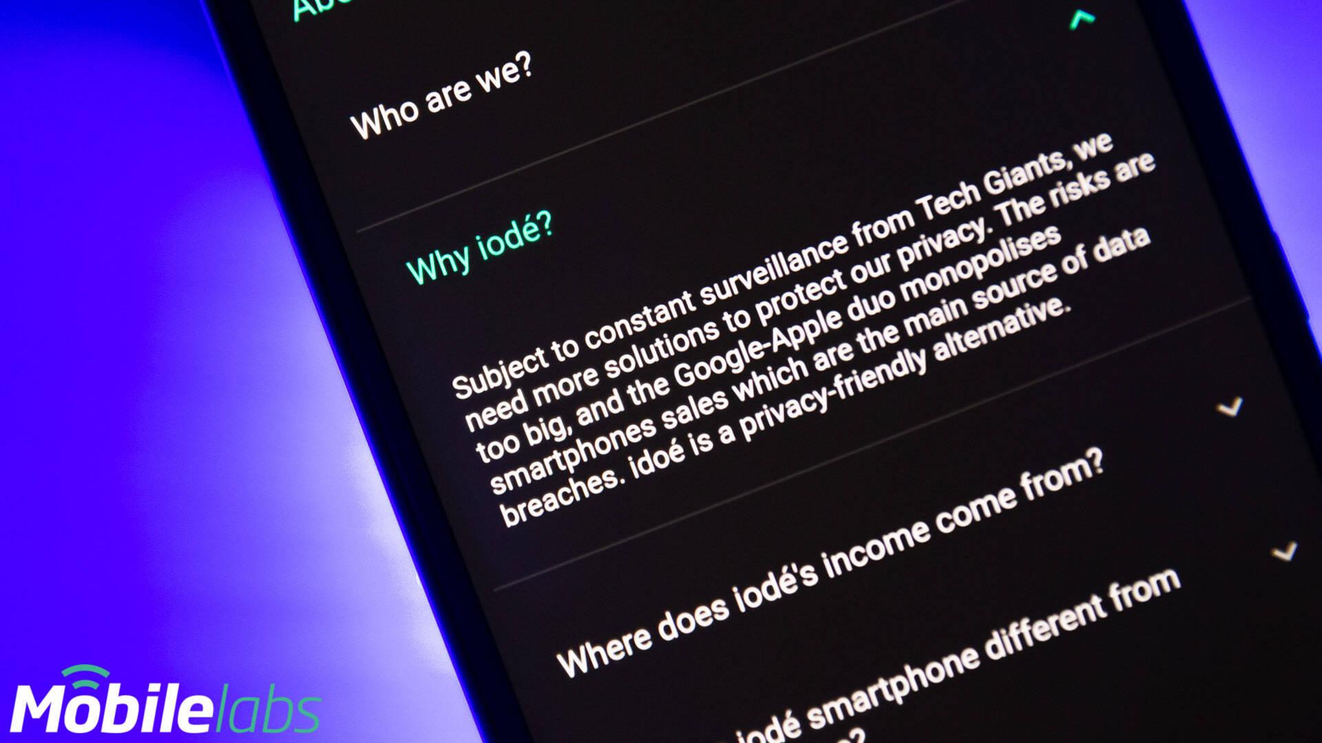 Iodé OS - Sony Xperia XZ2