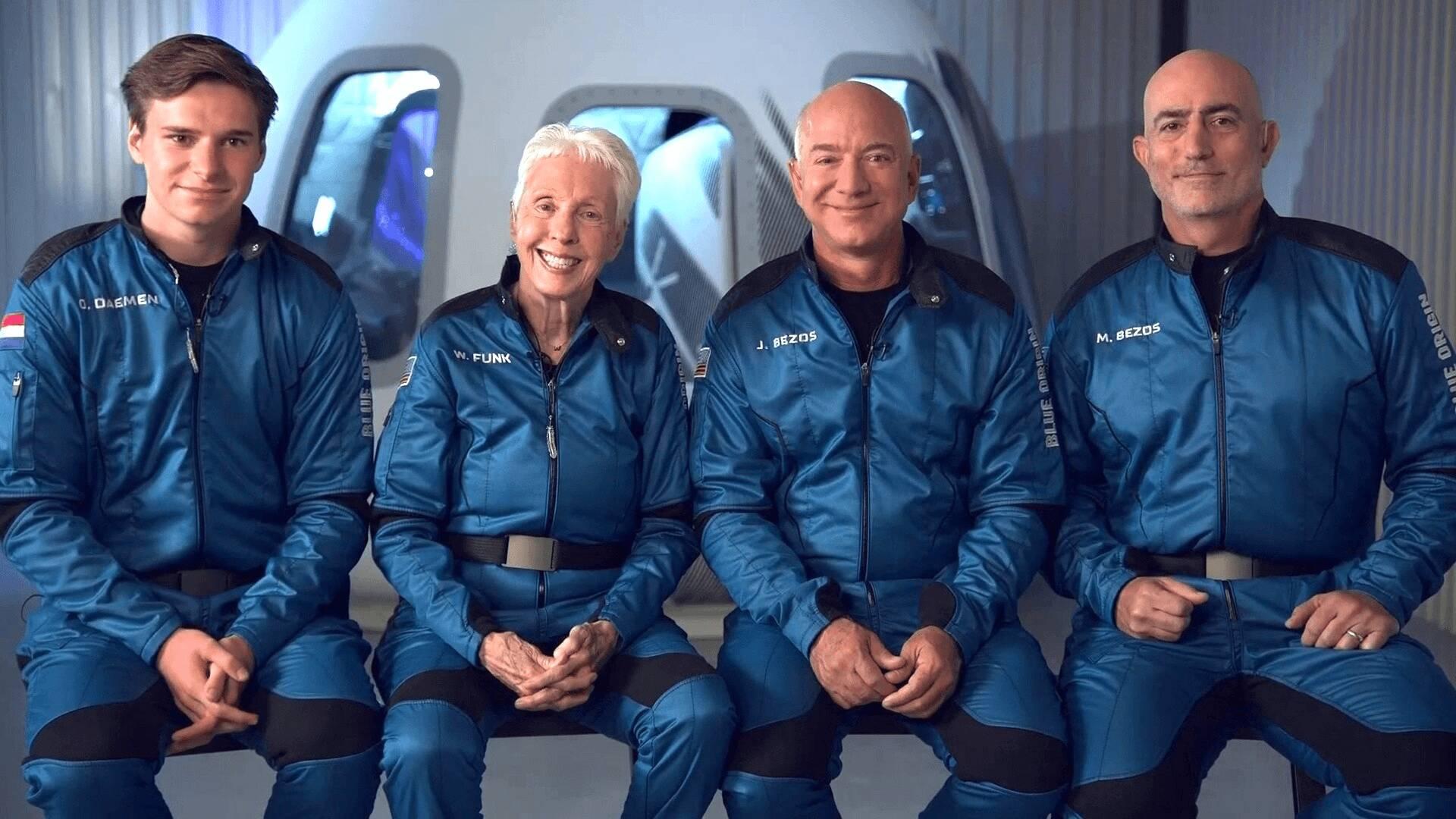 Jeff Bezos nello spazio
