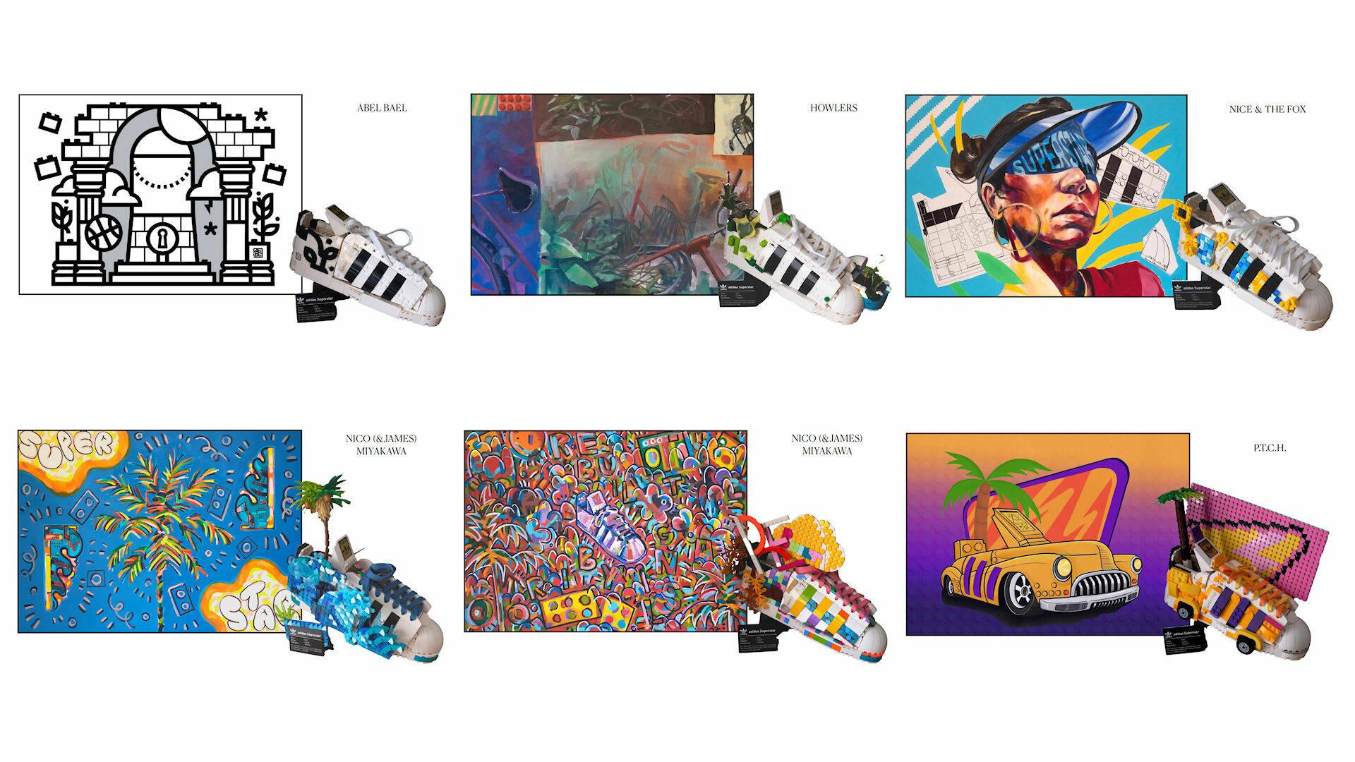 lego adidas street art originals superstar