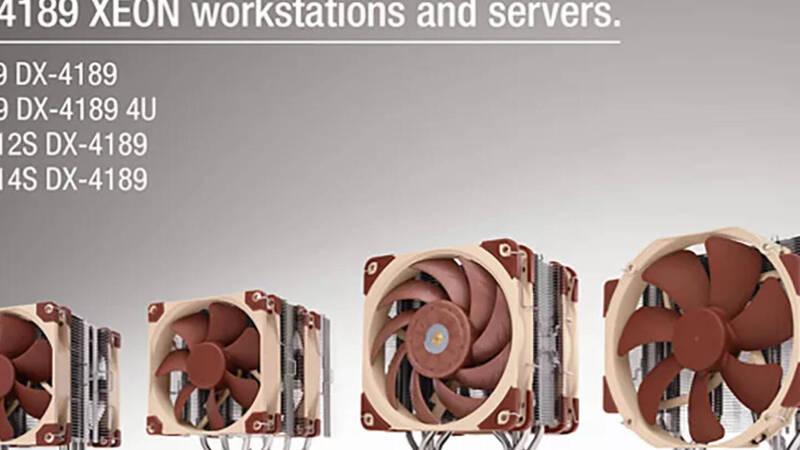Noctua launches four new heatsinks for the Xeon W-3300