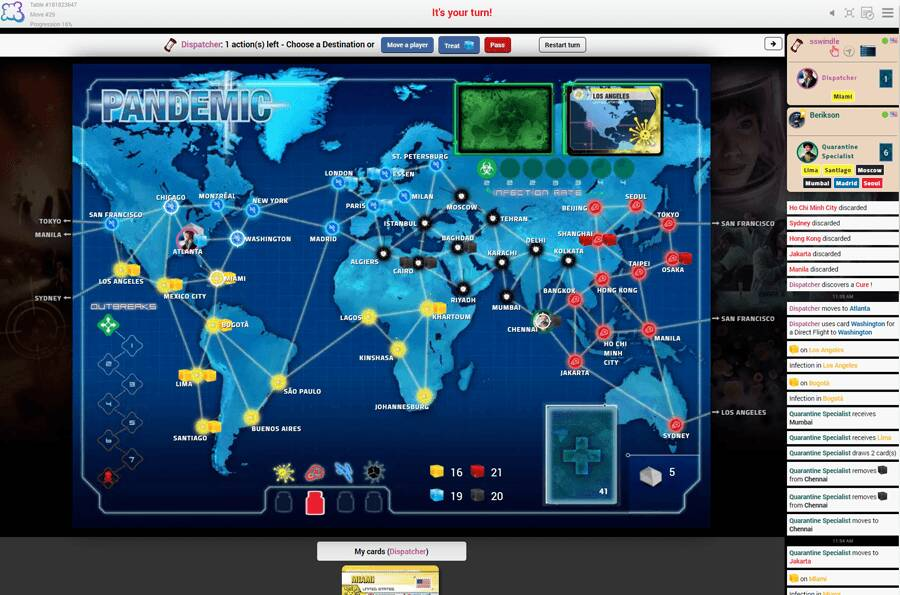Pandemic Board Game Arena