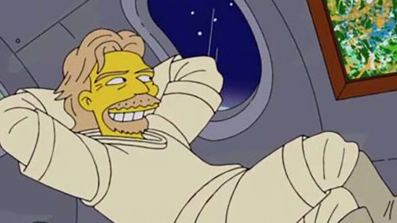 Richard Branson in space? Already seen in the Simpsons