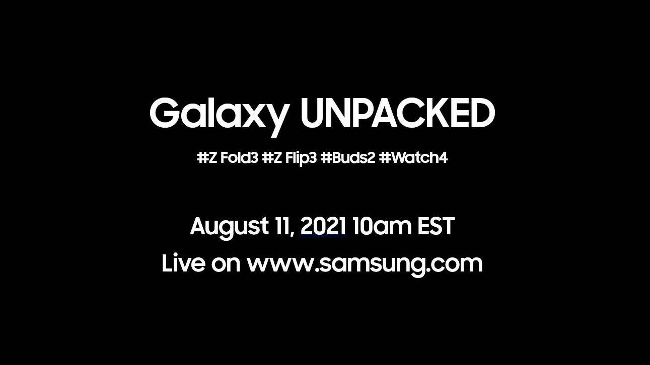 Samsung Unpacked 2021 - agosto