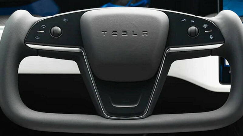 Tesla, the Supercar-style steering wheel will be the standard