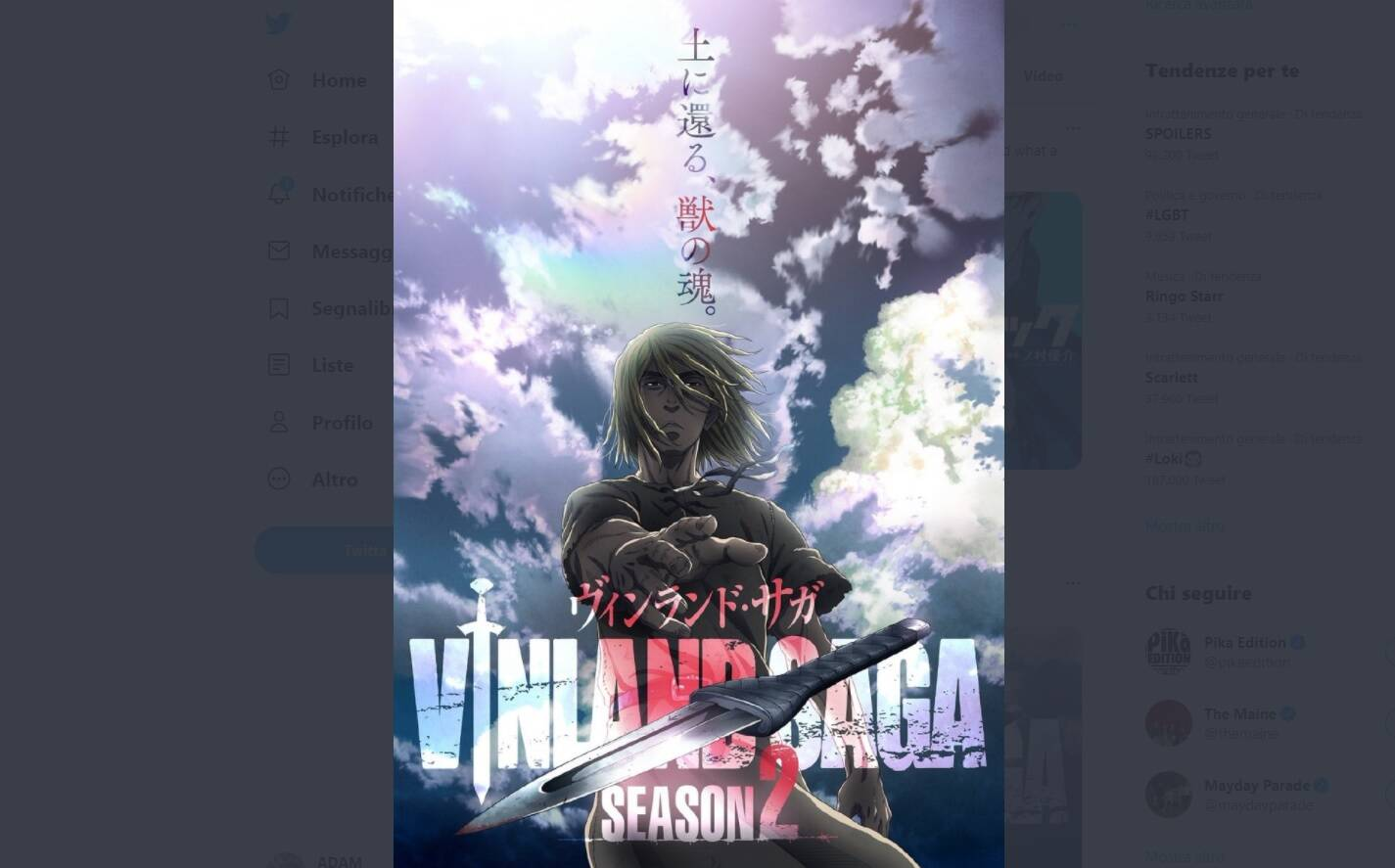 vinland saga stagione 2