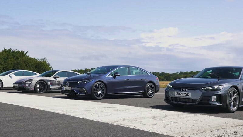 Who wins on the quarter mile between Tesla, Porsche, Audi and Mercedes?
